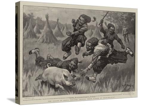 The Allies in China, Zouaves Chasing their Dinner at Shan-Hai-Quan-William T^ Maud-Stretched Canvas Print