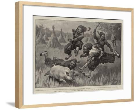 The Allies in China, Zouaves Chasing their Dinner at Shan-Hai-Quan-William T^ Maud-Framed Art Print