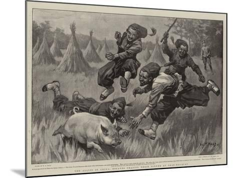 The Allies in China, Zouaves Chasing their Dinner at Shan-Hai-Quan-William T^ Maud-Mounted Giclee Print