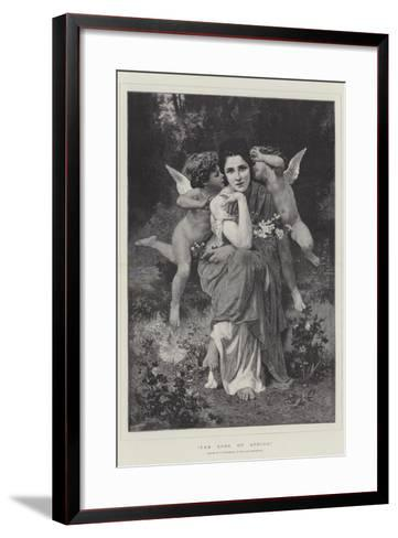 The Song of Spring, in the Paris Exhibition-William-Adolphe Bouguereau-Framed Art Print