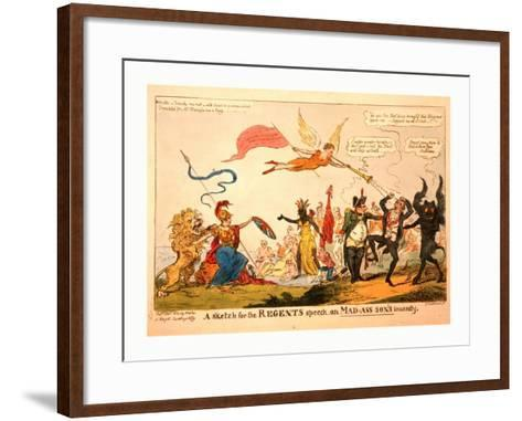 A Sketch for the Regents Speech on Mad-Ass-Son's Insanity--Framed Art Print