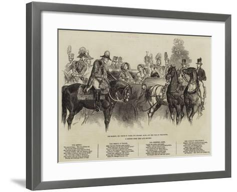 A Sketch from the Late Review--Framed Art Print