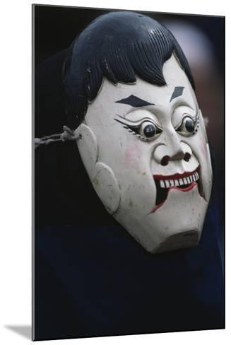 Actor Wearing Mask of Comic Character During Dixi Performance (Ground Opera)--Mounted Giclee Print
