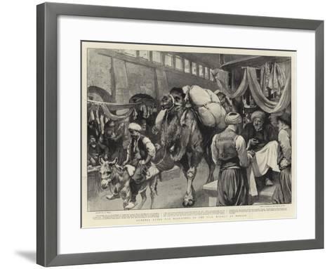 Armenia after the Massacres, in the Silk Market at Marash-William Small-Framed Art Print