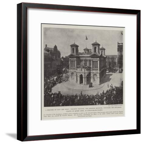 A Meeting of East and West--Framed Art Print