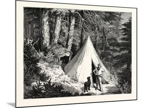 A Summer Encampment in a North Pacific Forest: Copper Mountain--Mounted Giclee Print