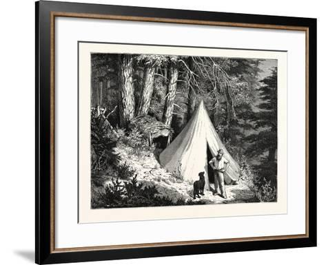 A Summer Encampment in a North Pacific Forest: Copper Mountain--Framed Art Print