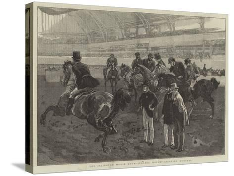 The Islington Horse Show, Judging Weight-Carrying Hunters-William Small-Stretched Canvas Print