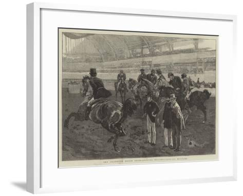 The Islington Horse Show, Judging Weight-Carrying Hunters-William Small-Framed Art Print