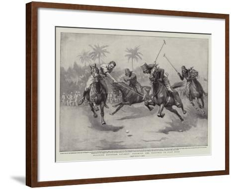 Training Egyptian Cavalry, Teaching the Troopers to Play Polo-William T^ Maud-Framed Art Print
