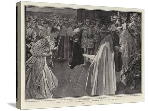After the Queen's Coronation, Her Majesty Bowing to the King-William T^ Maud-Stretched Canvas Print