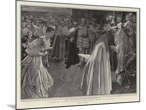 After the Queen's Coronation, Her Majesty Bowing to the King-William T^ Maud-Mounted Giclee Print
