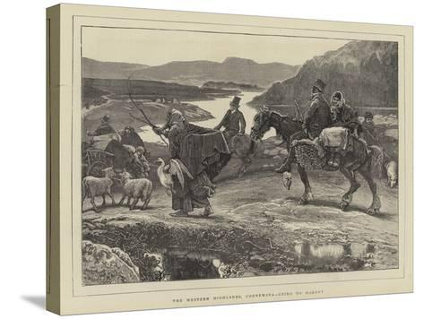 The Western Highlands, Connemara, Going to Market-William Small-Stretched Canvas Print