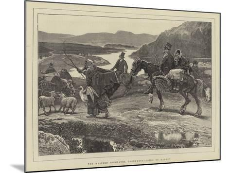 The Western Highlands, Connemara, Going to Market-William Small-Mounted Giclee Print