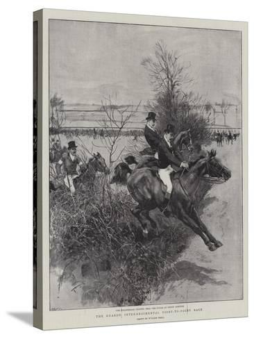 The Guards' Inter-Regimental Point-To-Point Race-William Small-Stretched Canvas Print