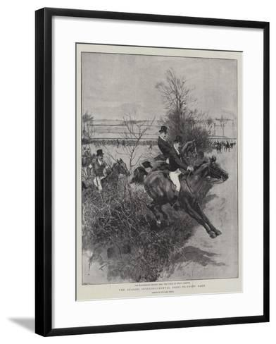 The Guards' Inter-Regimental Point-To-Point Race-William Small-Framed Art Print