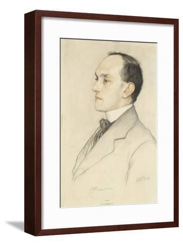 Portrait of Charles Francis Bell, 1913 (Coloured Crayons on a Pale Ochre Preparation)-William Strang-Framed Art Print