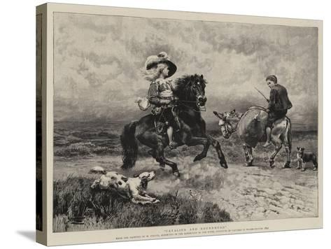Cavalier and Roundhead-William Strutt-Stretched Canvas Print