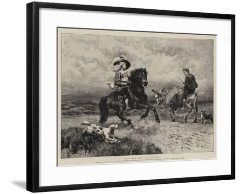 Cavalier and Roundhead-William Strutt-Framed Art Print
