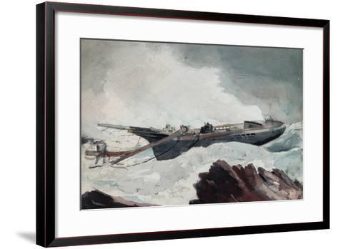 The Wrecked Schooner, C.1900-10-Winslow Homer-Framed Art Print