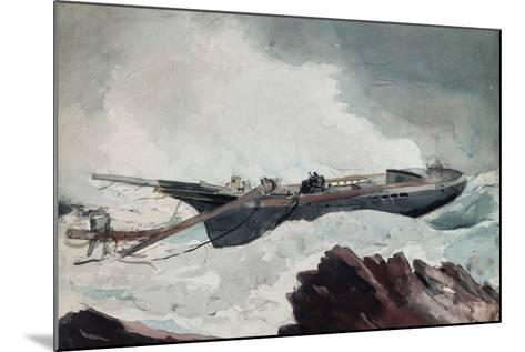 The Wrecked Schooner, C.1900-10-Winslow Homer-Mounted Giclee Print