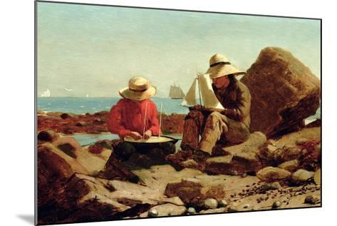 The Boat Builders, 1873-Winslow Homer-Mounted Giclee Print