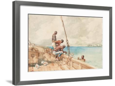 The Conch Divers, 1885-Winslow Homer-Framed Art Print
