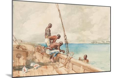 The Conch Divers, 1885-Winslow Homer-Mounted Giclee Print