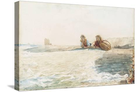The Breakwater, 1883-Winslow Homer-Stretched Canvas Print