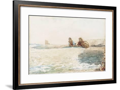 The Breakwater, 1883-Winslow Homer-Framed Art Print