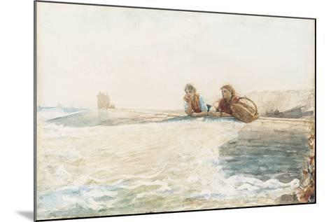 The Breakwater, 1883-Winslow Homer-Mounted Giclee Print