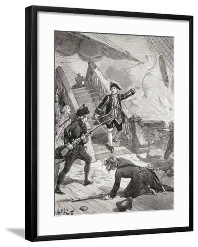 Admiral Suffren in the Indian Ocean During His Campaign Against the English in the 18th Century--Framed Art Print