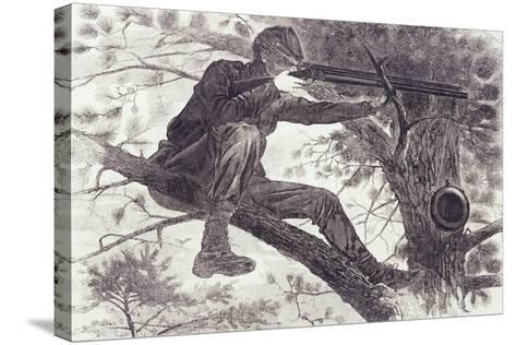 A Sharp-Shooter on Picket Duty, 1862-Winslow Homer-Stretched Canvas Print