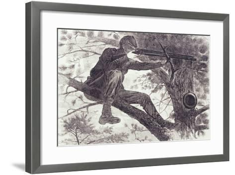 A Sharp-Shooter on Picket Duty, 1862-Winslow Homer-Framed Art Print