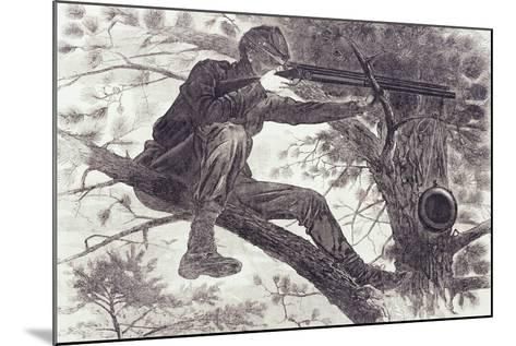 A Sharp-Shooter on Picket Duty, 1862-Winslow Homer-Mounted Giclee Print