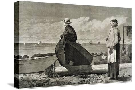 Dad's Coming, 1873-Winslow Homer-Stretched Canvas Print