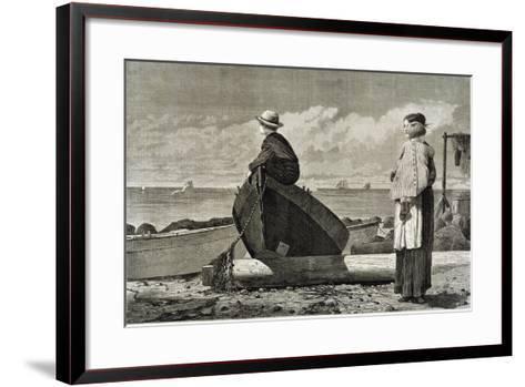 Dad's Coming, 1873-Winslow Homer-Framed Art Print