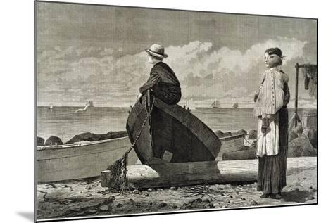 Dad's Coming, 1873-Winslow Homer-Mounted Giclee Print