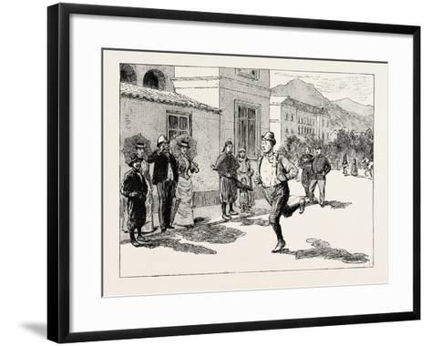 A Morning Ride in Athens--Framed Art Print