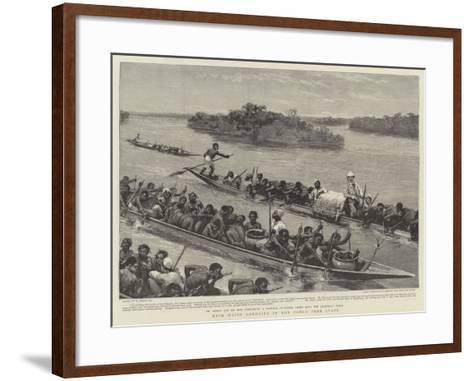 With Major Lothaire in the Congo Free State-William Small-Framed Art Print