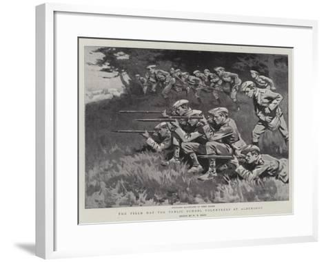 The Field Day for Public School Volunteers at Aldershot-William T^ Maud-Framed Art Print