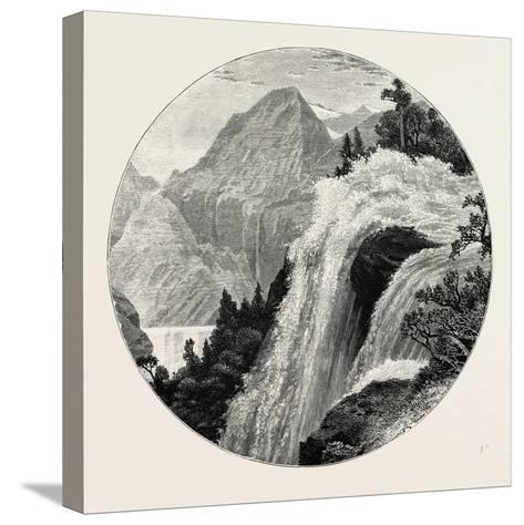 A View in the Geiranger. Geiranger Is a Small Tourist Village in Sunnmøre in the Municipality of St--Stretched Canvas Print
