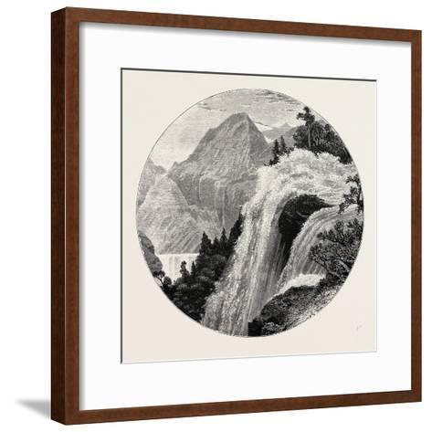 A View in the Geiranger. Geiranger Is a Small Tourist Village in Sunnmøre in the Municipality of St--Framed Art Print