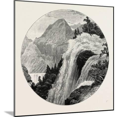 A View in the Geiranger. Geiranger Is a Small Tourist Village in Sunnmøre in the Municipality of St--Mounted Giclee Print