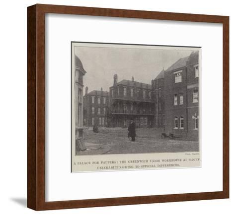 A Palace for Paupers--Framed Art Print