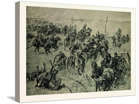 Artillery Fight in the Battle Near Gravelotte on the 18th of August--Stretched Canvas Print