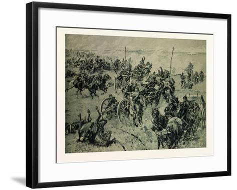 Artillery Fight in the Battle Near Gravelotte on the 18th of August--Framed Art Print