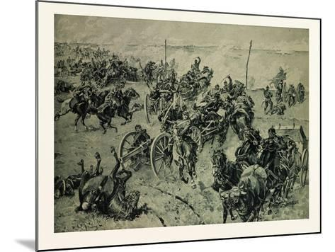 Artillery Fight in the Battle Near Gravelotte on the 18th of August--Mounted Giclee Print