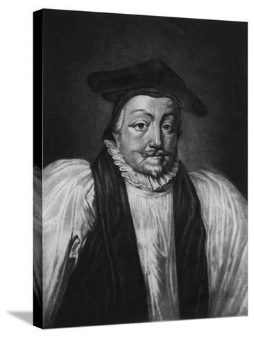 Archbishop William Laud (1573-1645) Illustration from 'Portraits of Characters Illustrious in Briti--Stretched Canvas Print