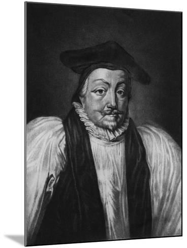 Archbishop William Laud (1573-1645) Illustration from 'Portraits of Characters Illustrious in Briti--Mounted Giclee Print